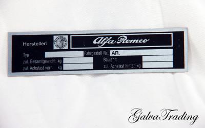 Typenschild Blech Fahrgestellnummer (blanco)